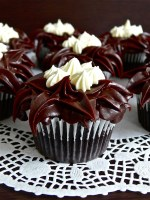 Chocolate Mint Cupcakes with After Eight Ganache Frosting