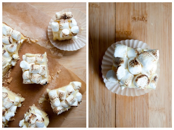 White Chocolate Lemon Meringue Pie Bars Diptich 2