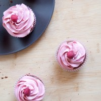 Raspberry Brownies Cupcakes / Cupcakes Brownies Framboise