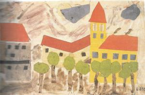 Terezin motif collage by Margit Gerstmannova (1931-1944)