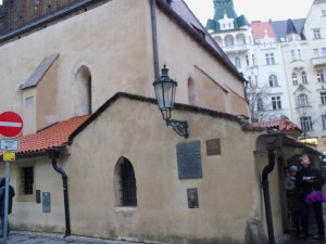 Side view of the New Old Synagogue in Prague. Built in 1270, it is the oldest active synagogue in Europe, and is to me a powerful reminder that Judaism in Europe lives on.