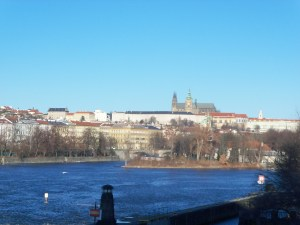 The Vltava River in Prague. The Conservatory where Gideon Klein studied is only a short walk from the river.