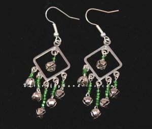 Silver Bell Chandelier Earrings