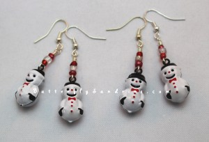 These beautiful snowman bell earrings are sure to ring with delight!