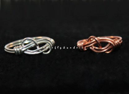 Silver & Copper Ring on Black