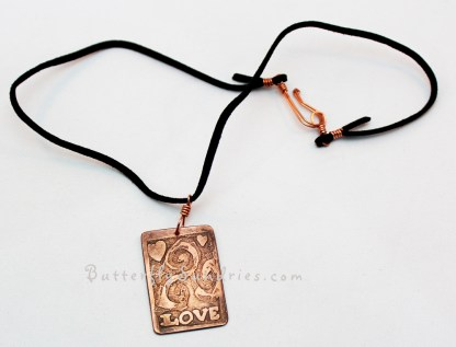 Love CTS Pendant Necklace on White