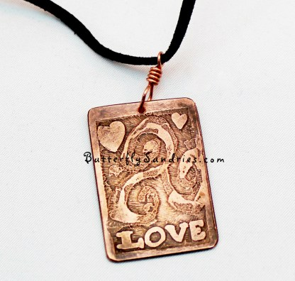 Love CTS Pendant close-up on white