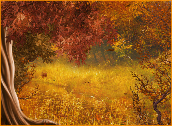Fall Leaves Clip Art Wallpaper Psp Tubes Autumn Woods Backgrounds Special Member