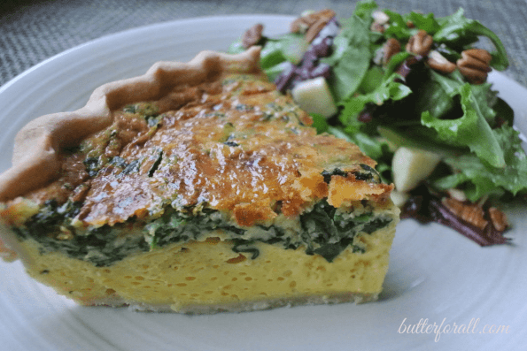 Quick And Easy 12 Egg Quiche With Spinach And Cheese