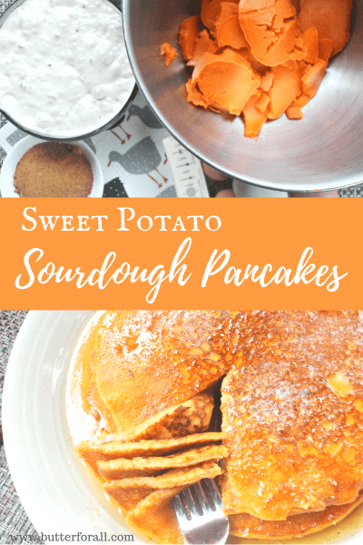 Make these flavorful, healthy sweet potato sourdough pancakes for any special occasion!