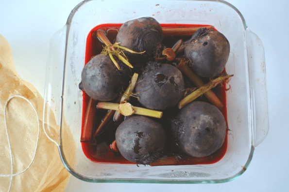 Fennel, Beet And Apple Salad With Cranberry Ginger Beet Dressing
