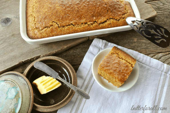 Clabber Milk Corncake-A Healthy Soaked Grain Cornbread