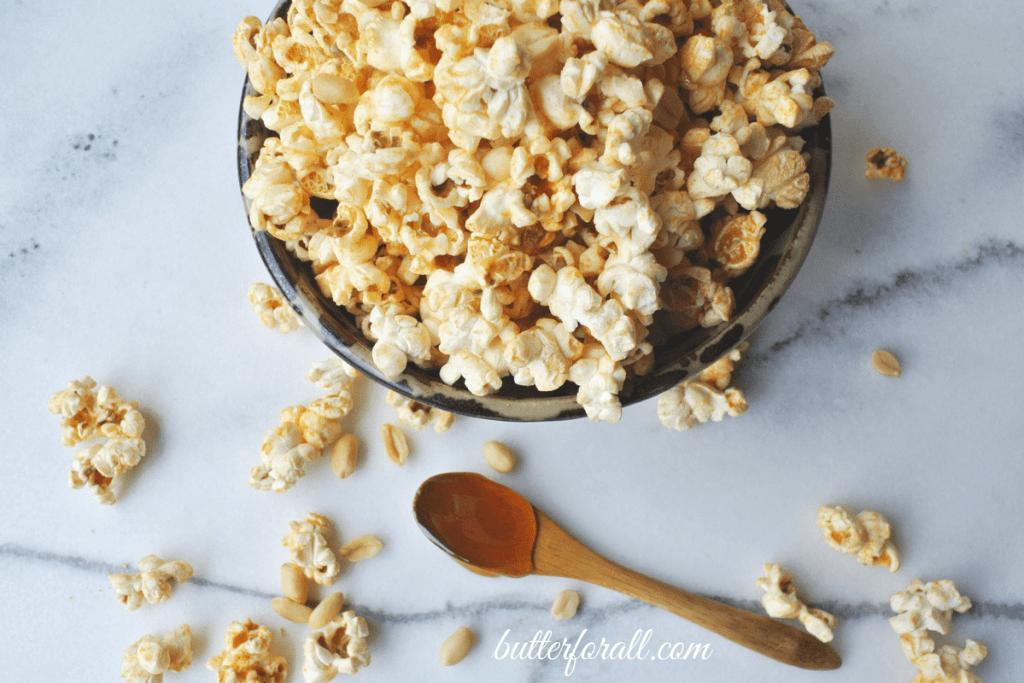 Honey Nut Popcorn - A Crispy, Crunchy, Buttery, Nutty, Wholesome Treat