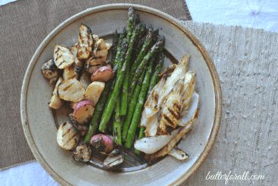 Tahini Marinated Grilled Vegetables