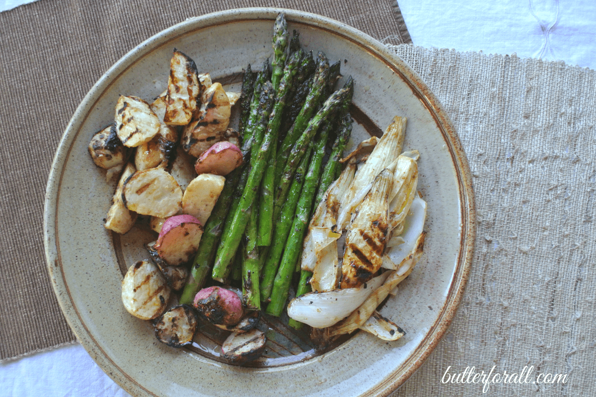Tahini Marinated Grilled Veggies