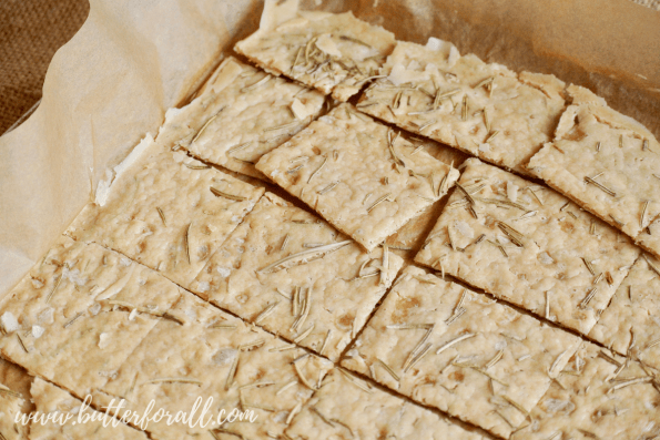 A pan of sourdough discard crackers fresh from the oven. #realfood #fermented #Sourodugh #starter #discard