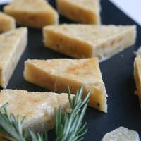 candied ginger rosemary triangles