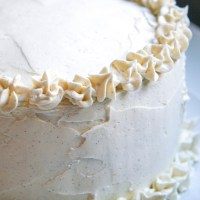 chai tea spiced cake with coconut frosting (dairy-free, plus vegan optional)
