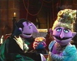 Count von Count and his little sachertorte, the Countess.