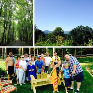 We went to my dad's house in July and held our annual picnic in his backyard, and Pete went to camp in the mountains.