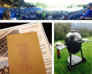 In May we watched baseball, I went to the Type-A Parent summit, and Rockford and the kids gave me a grill.