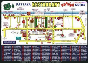 restaurant pattaya map
