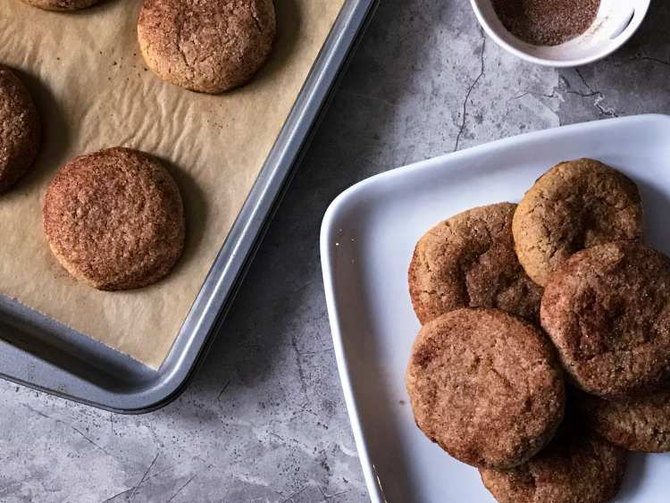 snickerdoodle cookies served on a plate