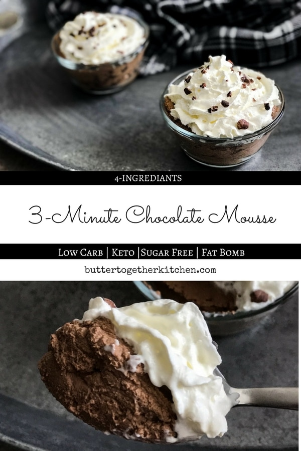 Easy 3-minute rich and creamy chocolate mousse! Enjoying this keto-friendly treat is the perfect way to get your chocolate fix, and all you'll need are a few simpleingredients.