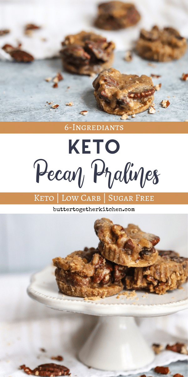 Keto Pecan Pralines Recipe - Sweet and salty keto candy perfection! #sugarefreepecanpralines #ketopecanpralines #ketodessert | buttertogetherkitchen.com