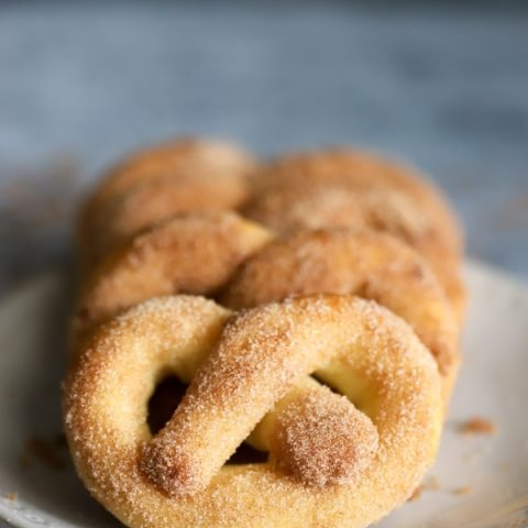 Keto Cinnamon Pretzels - Fat Head Dough