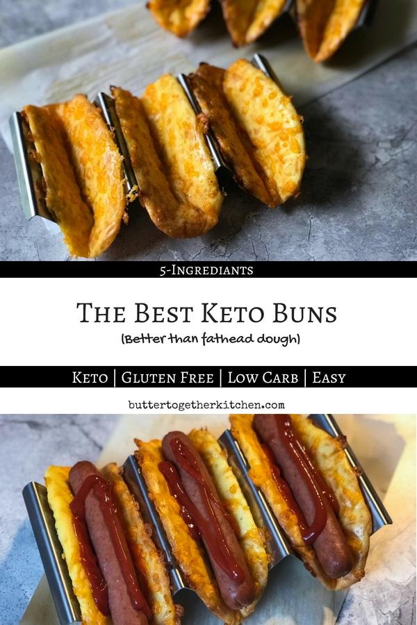 The Best Keto Buns #ketobuns #ketobread #lowcarbbread #ketorecipe #bestketobread #lowcarb #ketohotdogbuns #easyketorecipe | buttertogetherkitchen.com
