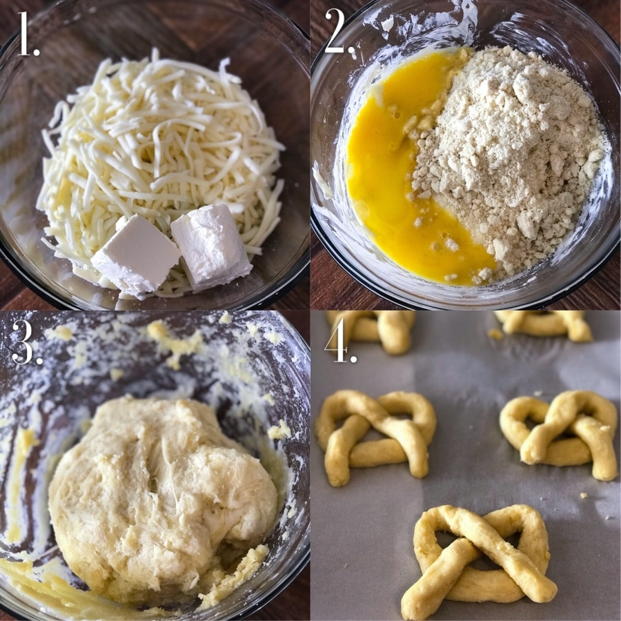 Keto Cinnamon Pretzels Step-by-Step