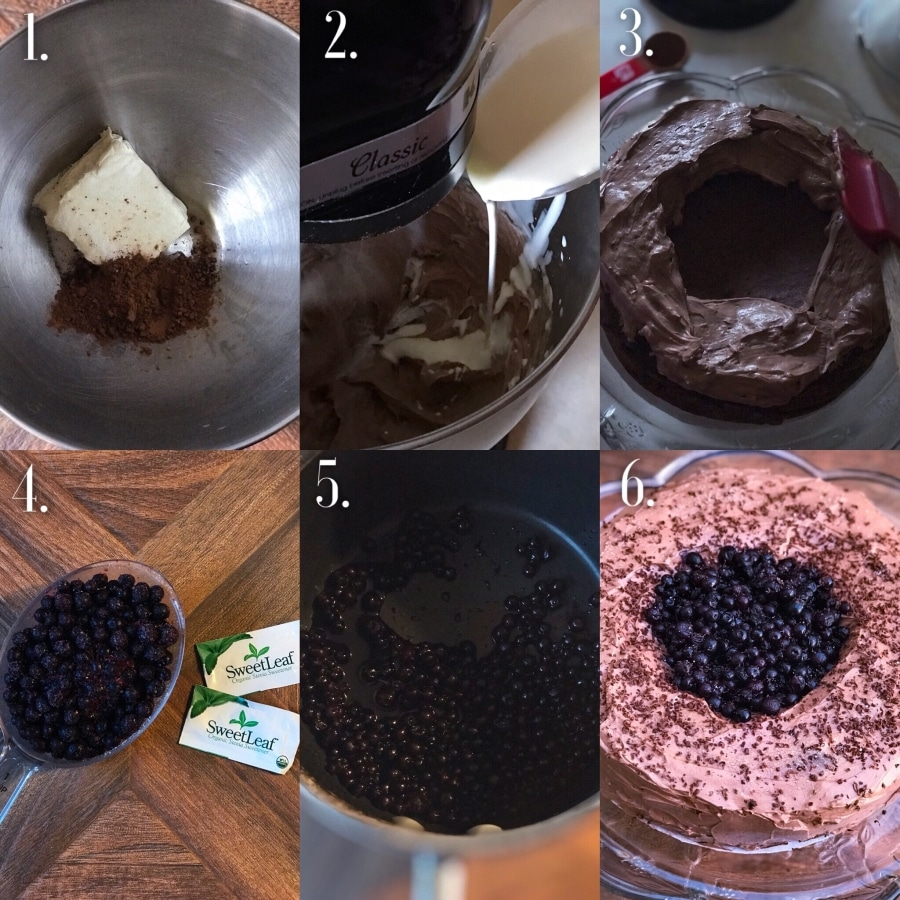 Blueberry Chocolate Cake Step-By-Step