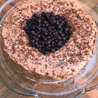 Keto Blueberry Chocolate Cake