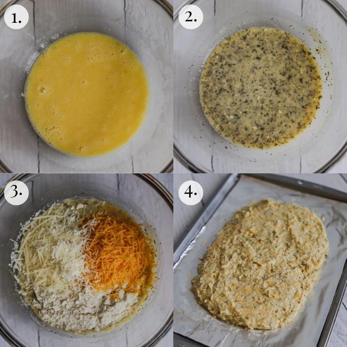 step by step how to make keto garlic bread
