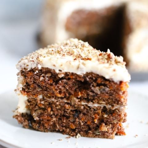 Low Carb Carrot Cake with Cream Cheese Frosting
