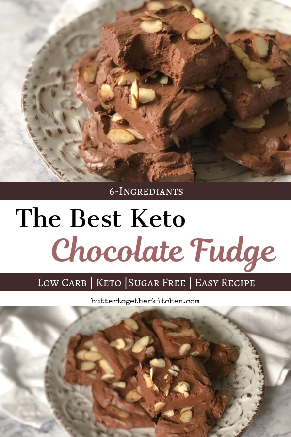 Best Chocolate Keto Fudge - Creamy and Delicious #ketofudge #ketodessert #sugarfreefudge #ketochocolate #lowcarbfudge | buttertogetherkitchen.com