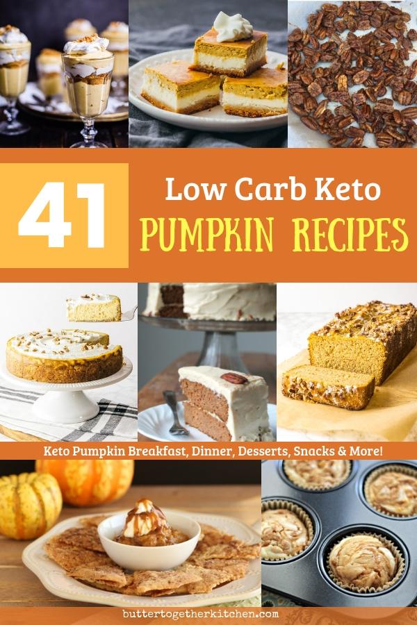 low carb keto pumpkin recipes pin