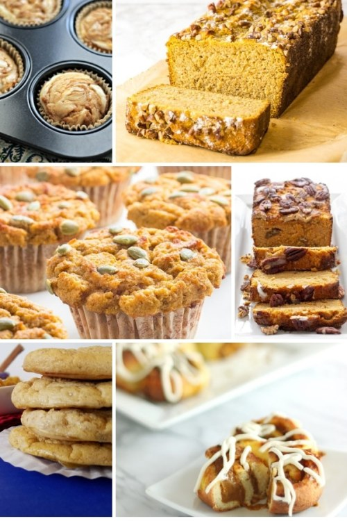 collage of 6 keto bread and keto muffin recipes