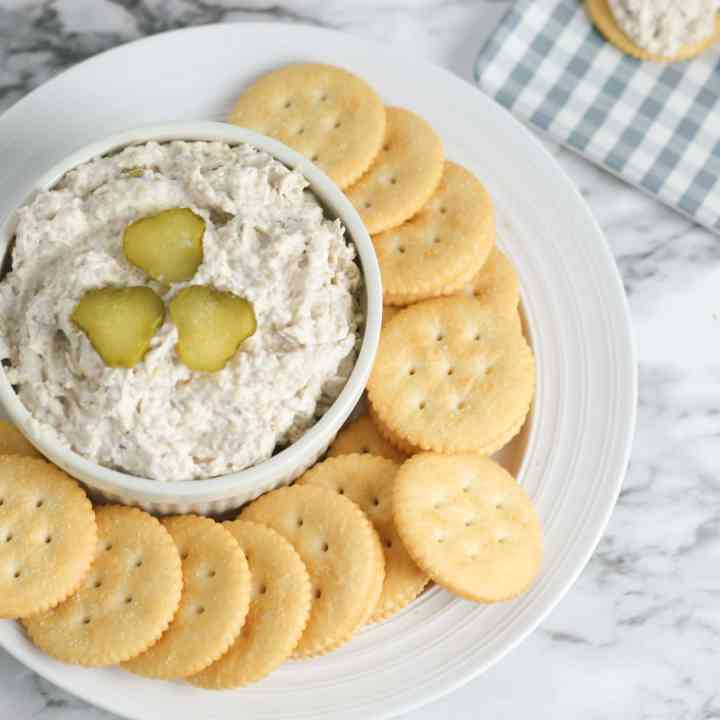 Easy Low Carb Ham and Pickle Dip