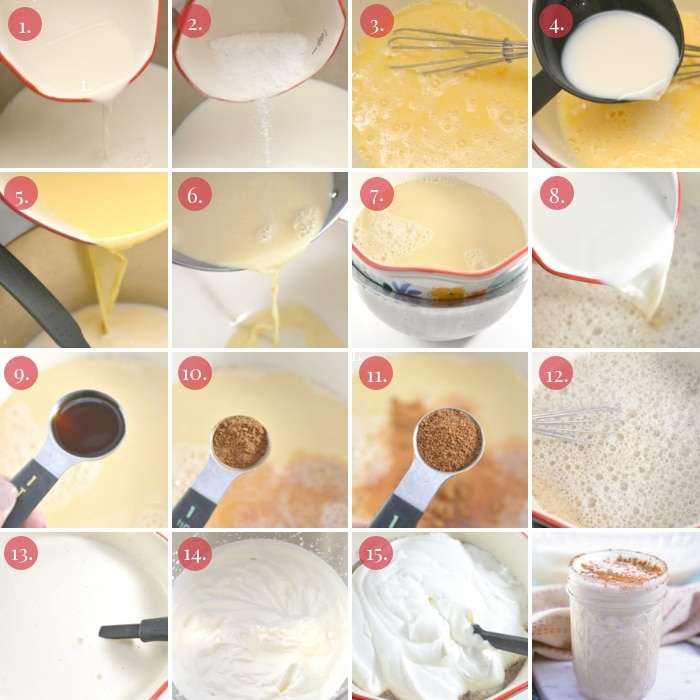 detailed step by step how to make eggnog