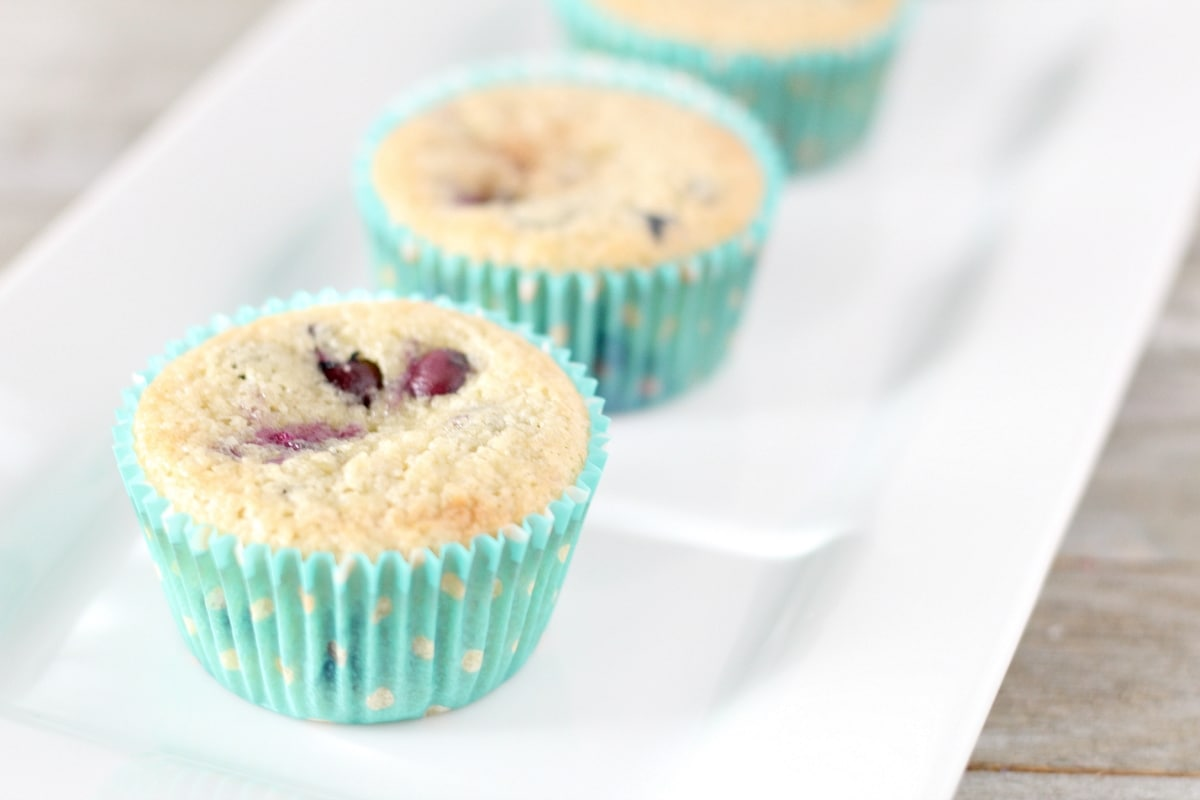 keto blueberry muffins on a plate