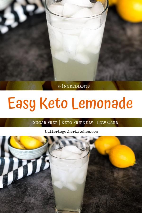 Sugar Free Keto Lemonade #ketolemonade #sugarfreelemonade #lemonade #easyketorecipe #ketodrink #sugarfreedrink #ketorecipes | buttertogetherkitchen.com