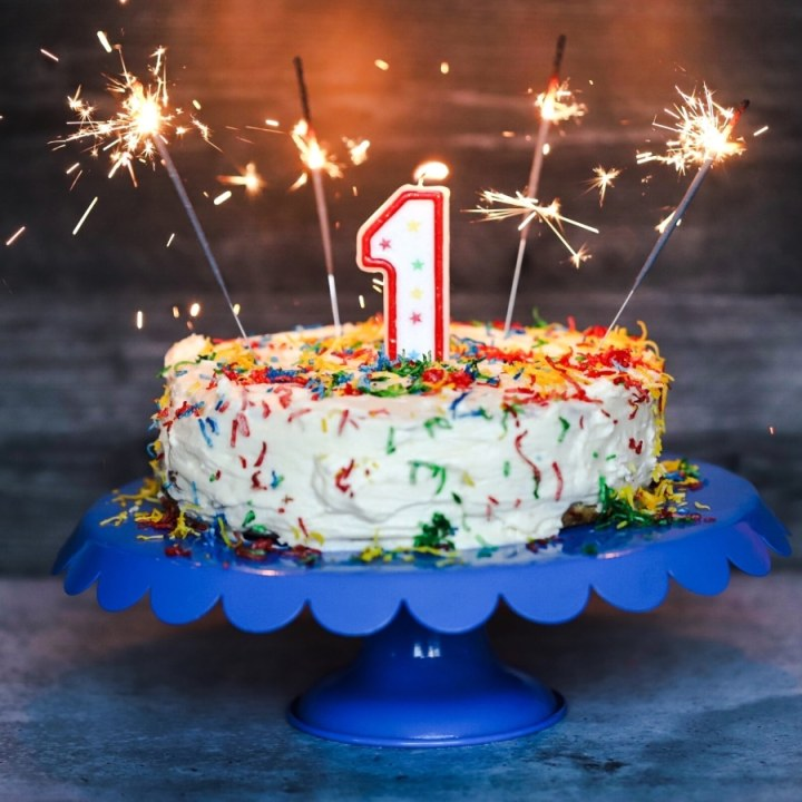 Funfetti Keto Birthday Cake