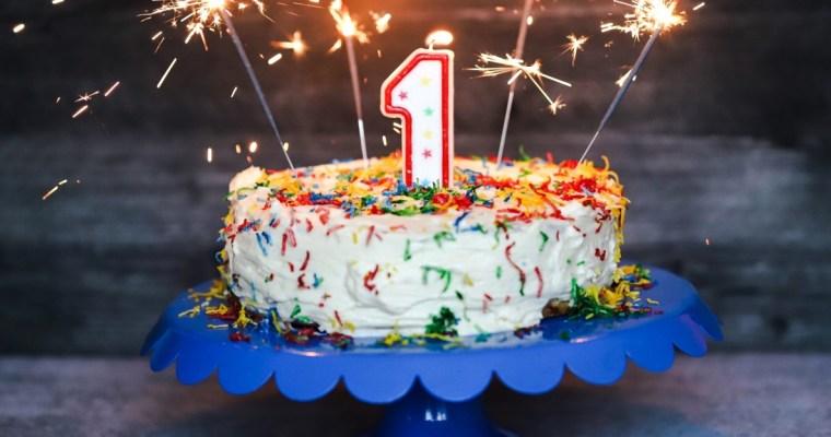 Funfetti Keto Birthday Cake | 1 Year Blog Birthday!