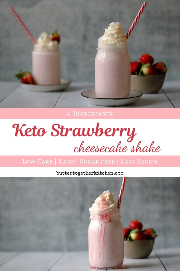 Keto Strawberry Cheesecake Shake Butter Together Kitchen