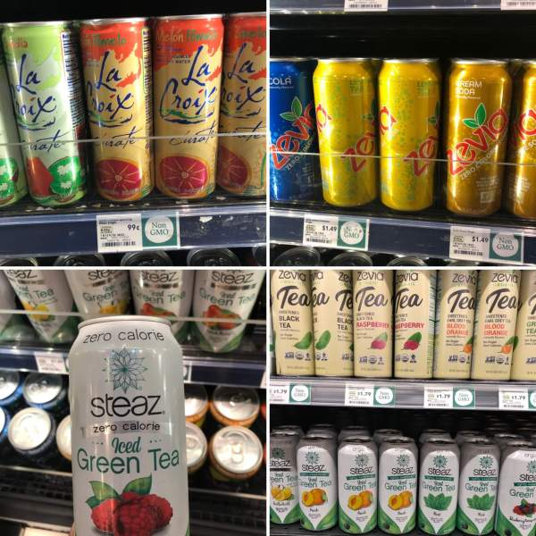 keto drink options at Whole Foods collage