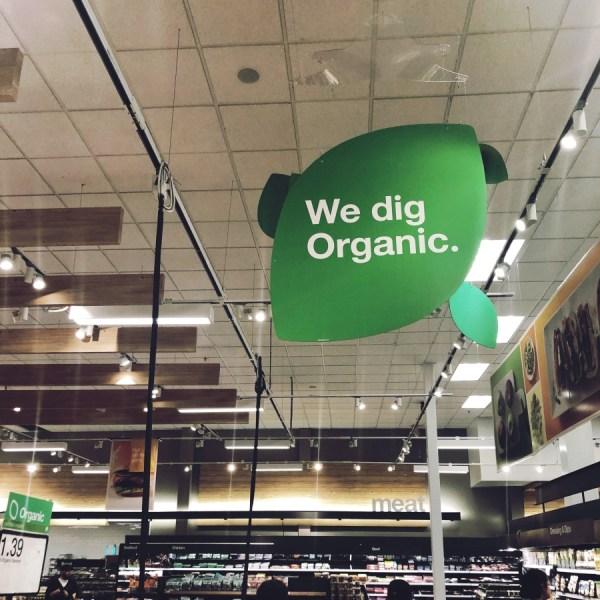 organic sign at target
