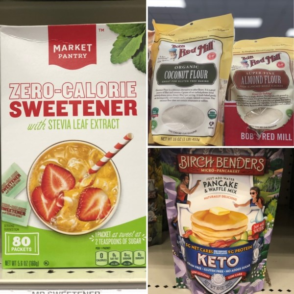 keto target flour and baking goods options