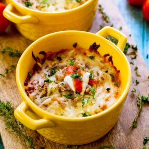 Keto Low Carb Lasagna Bowls (Single-Serve Bowls)